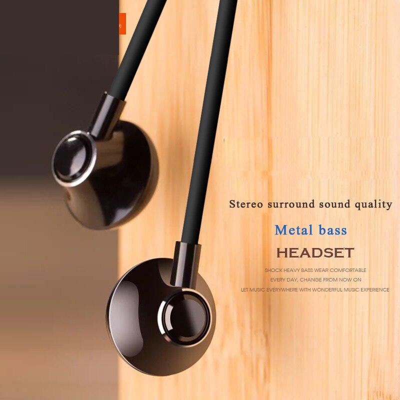 """מוסיקת סטריאו 3.5 מ""""מ אוזניות נייד בס אוזניות אוזניות קווית בתוך אוזן אוזניות עם מיקרופון עבור Xiaomi עבור טלפון חכם universell"""