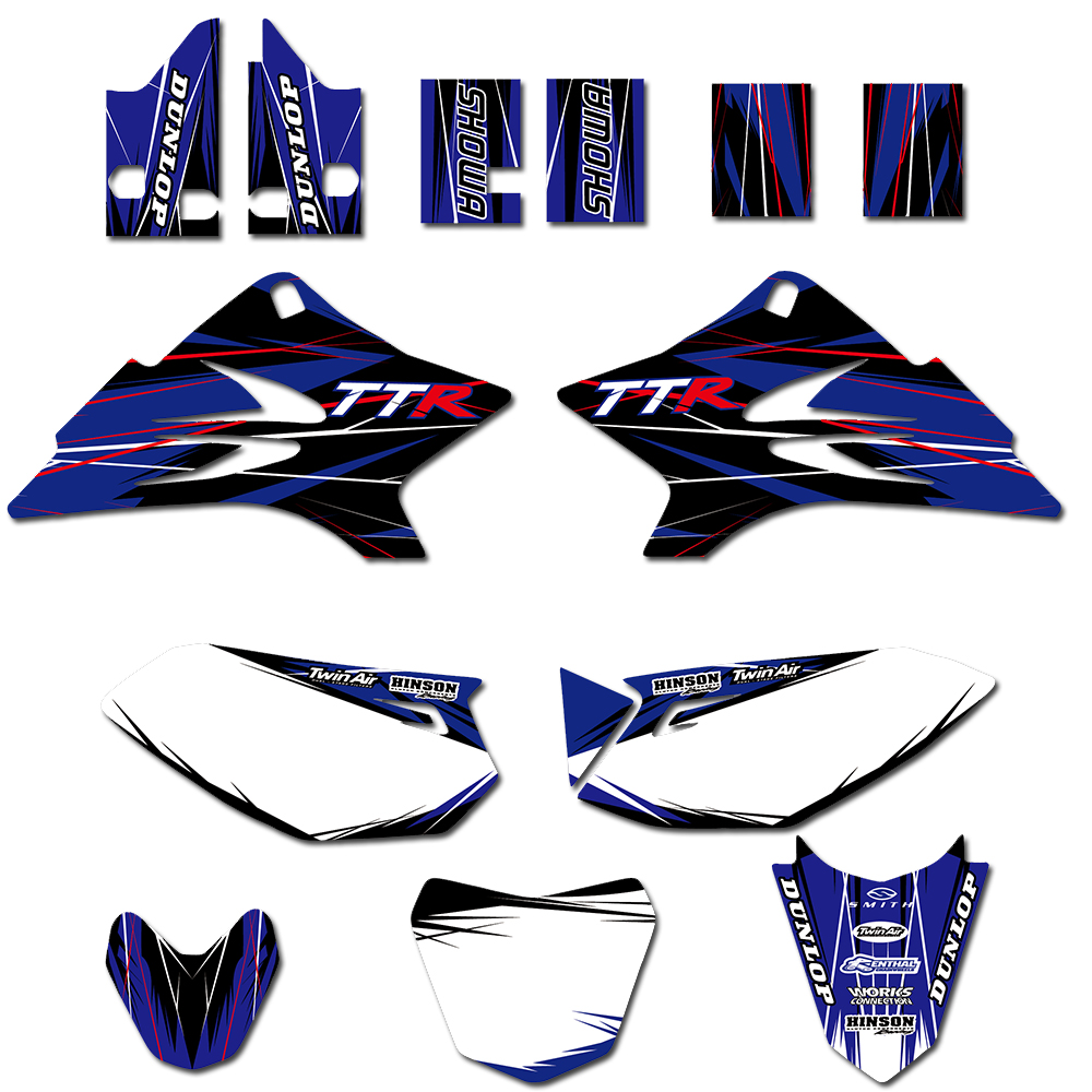 Team Graphic Background Decal <font><b>Sticker</b></font> For <font><b>Yamaha</b></font> TTR50 TTR <font><b>50</b></font> 2006 2007 2008 2009 2010 2011 2012 2013 2014 2015 2016 2017 2018 image