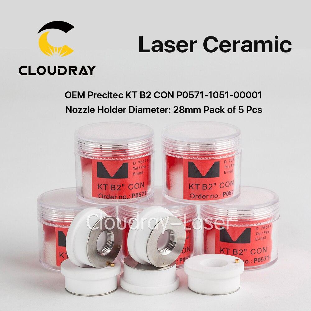 Cloudray Ceramic Parts Nozzle Holder OEM Pack of 5 Pcs P0571-1051-00001 For Precitec Laser Cutting Head 28mm/24.5mm
