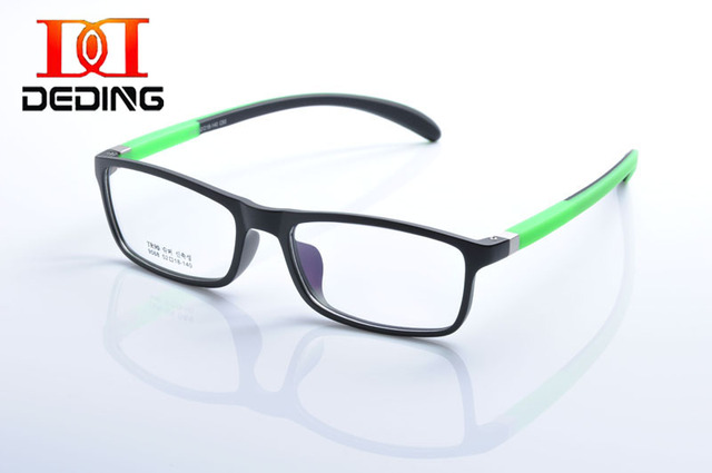 Deding peso leve quadro TR90 templo Silicone colorido dobrável retangular óculos De armação tamanho 52/18 Oculos De Grau DD1079