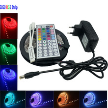4M 8M SMD RGB LED Strip light 5050 10m 5m 30Leds/m led Tape Waterproof RGB Led Light diode ribbon 44Key IR Controller DC 12V
