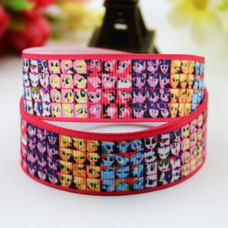 Cartoon Character Printed Grosgrain Ribbon Party Decoration Satin Ribbons Oem 10 Yards X-00618 To Produce An Effect Toward Clear Vision 22mm Just 7/8