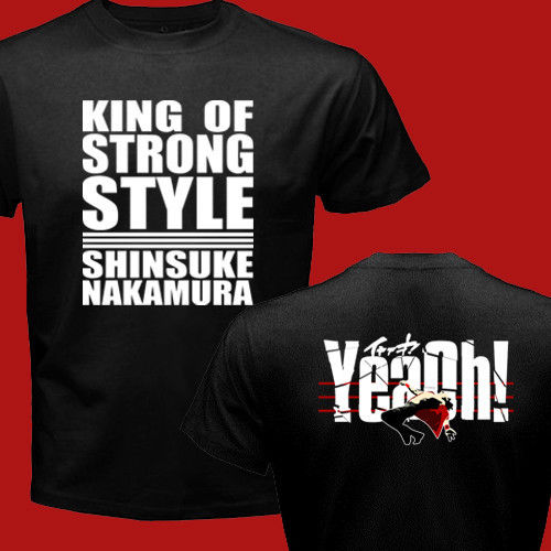 NEW SHINZUKE NAKAMURA NEW JAPAN PRO WRESTLING PURORESU NJPW STRONG - Տղամարդկանց հագուստ