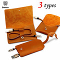 BASEUS Brand Vina Series Cow Leather Sorting Bag + Portable 8 Pin Data USB Charging Cable For iPhone 7 / 7 Plus 6s 6 Plus 5S