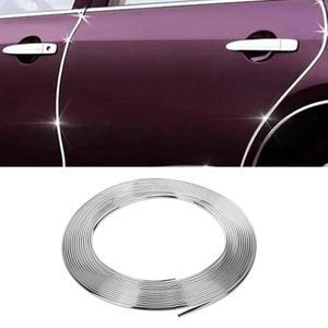 Image 3 - VODOOL 15m Car Chrome Decor Strip Trim Edge Sticker Auto Body Window Moulding Trim Sticker Car Accessories Exterior Decoration
