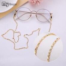 My Shape Rose Gold Color Geometric Hollow Glasses Chain Sunglass Strap Eyewear