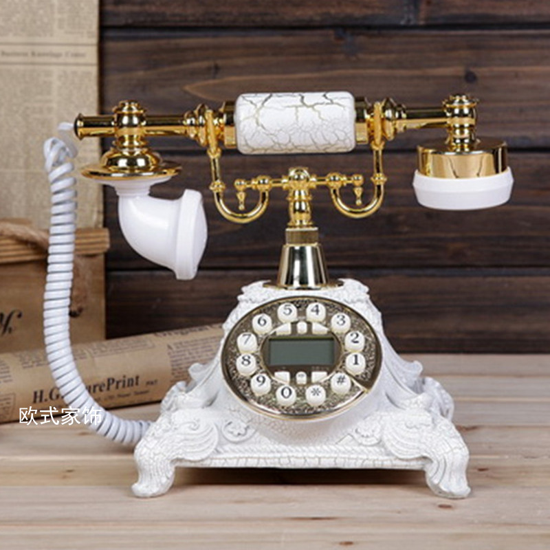 The new rural antique telephone telephone office landline retro European American Decoration home art fitted Redial Caller