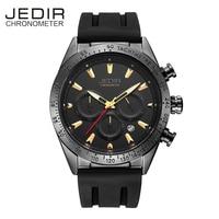 JEDIR Black Silicone Watch Men Sport Men S Watch Water Resistant Quartz Wristwatches Auto Date Luminous