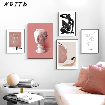 Scandinavian Vintage Canvas Poster Nordic Wall Art Print Abstract Painting Decorative Picture Modern Living Room Decoration modern inspirational nordic flowers plants combination canvas painting zebra poster and prints living room decorative painting