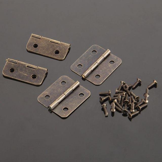20Pcs 36*26mm Antique Furniture Hinges for Jewelry Wooden Box Cabinet  Drawer Butt Hinge Decorative Hinges for Furniture Hardware - Online Shop 20Pcs 36*26mm Antique Furniture Hinges For Jewelry