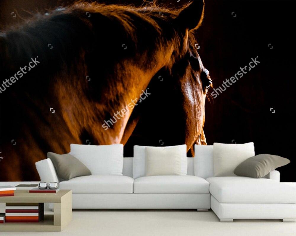 Décoration de maison personnalisée papel de parede, tir arrière d'un cheval, 3D pour salon chambre canapé fond papier peint peintures murales vinyle