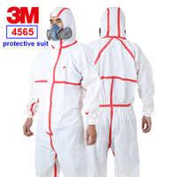 3M 4565 ropa protectora siamesa tira roja con capucha traje de protección prevención epidémica pintura en aerosol ropa de seguridad