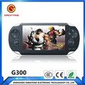 Hot sale! Factory direct double rocker game MP4 PSP MP5 handheld game explosion models 8G G300