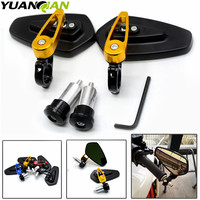 universal Motorcycle Bar End rearview Mirrors 7/8 for yamaha YZF R125 R15 R25 r 125 15 25 mt 07 mt 09 mt 07 09 MT 09 FZ07 FZ09