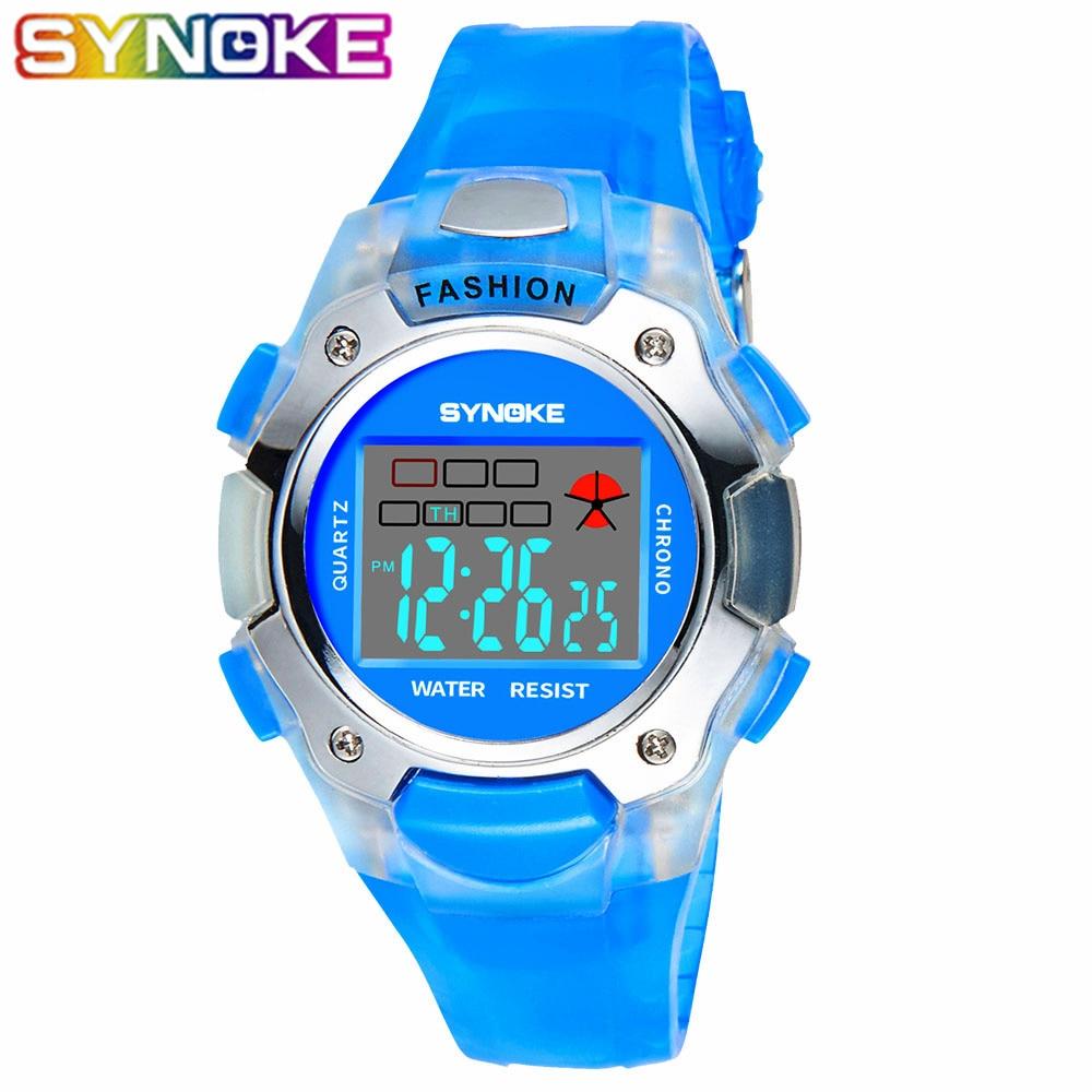SYNOKE Kids Watches Children Sport Clock Digital Wristwatch Waterproof Watch For Boys Girls Gift Electronic Date Hours