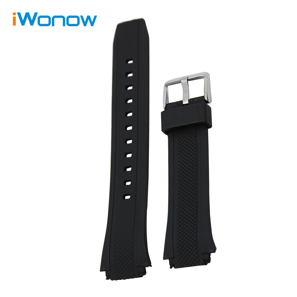 Silicone Rubber Watchband for EF550 EF552 Replacement Watch Band Sport Strap Stainless Steel Buckle Belt Wrist Brac