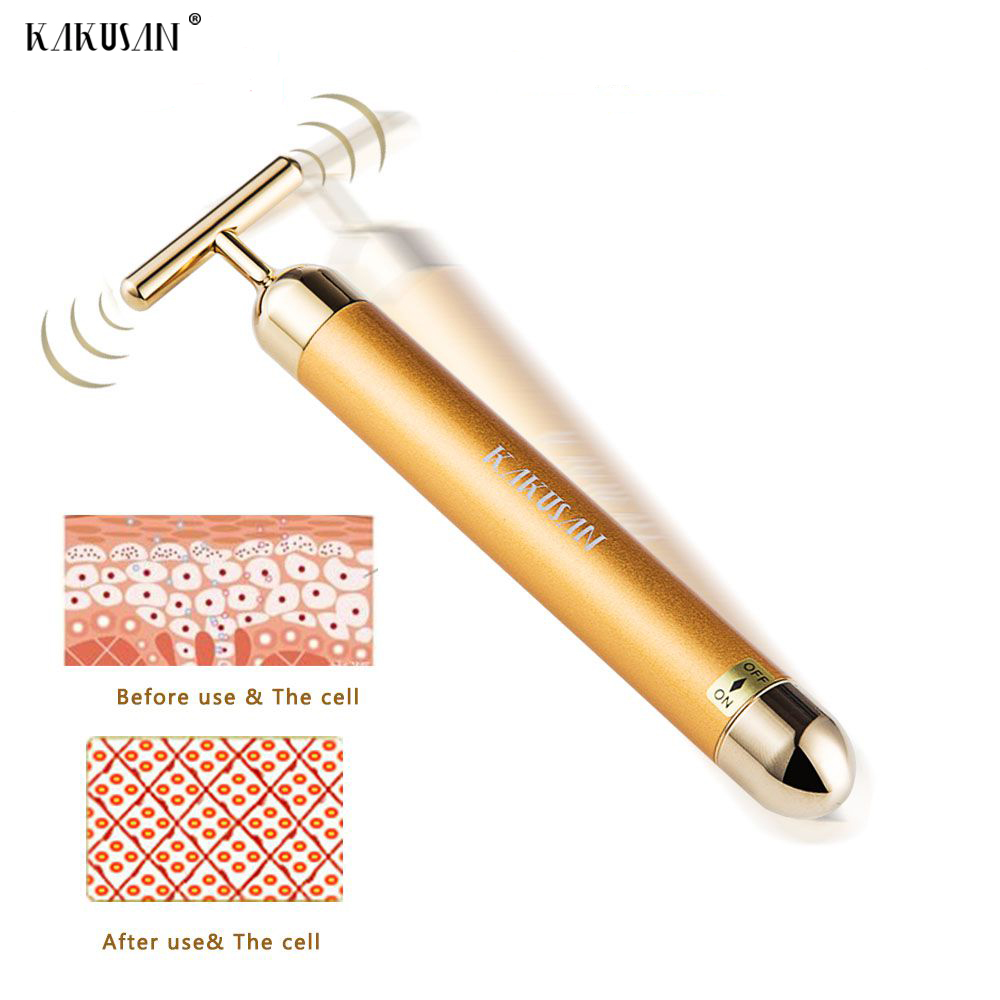 Japan hot sale 24k gold beauty bar anti aging vibration facial massager for skin care hot facial beauty skin care health beauty instrument ph 1 equipment ultrasonic whitening anti acne pimples aging wrinkles r
