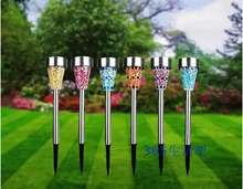 High Qualily Solar Power LED Spot Lights Stainless Steel Landscape Outdoor Garden Path Lawn Lamp Yard landscape solar lighting