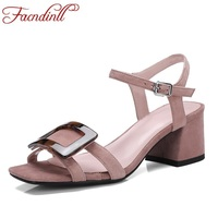 FACNDINLL Hot Sellers Genuine Leather Women New Fashion Peep Toe Shoes Woman Dress Party Office Lady