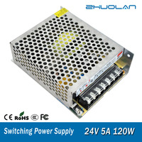Indoor Special Switching Power Supplyt 24V5A 120W For Led Ac Input 100 240V