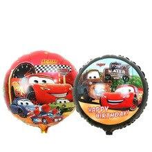 ФОТО 50pcs/lot 18 inch round cars foil balloons theme birthday party decoration supplies cartoon hero balls children toys