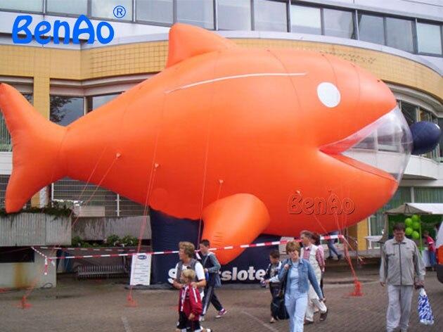 AO364 benao 5 м прекрасный индивидуальные надувные гелием Золотая рыбка шар/Гигантский животных мультфильм/надувные рыбы для продажи
