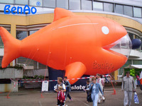 AO364 BENAO 5m Lovely Customized Inflatable Helium Goldfish Balloon / Giant Animal Cartoon / Inflatable Fish For Sale