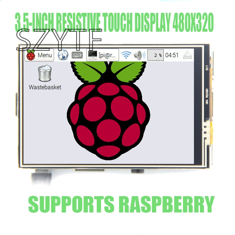 3 5 inch Resistive touch LCD display for Raspberry PI 3 model or raspberry pi 2