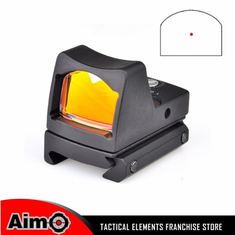 Aim-O Airsoft Tactical Pistol Red Dot Scope Military reddot sight Shatterproof with RIS RMR Picatinny Mount AO1005 military tactical military rmr mini red dot sight reflex scope with picatinny rail for rifle hunting