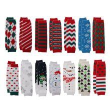 1 пара; рождественские гетры для девочек и мальчиков; хлопковые леггинсы в полоску с оборками; 14 цветов; детские носки для ползания; носки для малышей