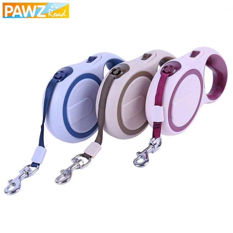 PAWZRoad Pet Large Dog Leash Collar 5M Pet Leads Automatic Retractable Leash Collie Saint Bernard Dog Chain Products for Animals