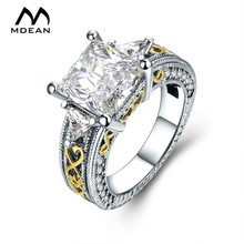 White Gold Color Rings for Women Fashion