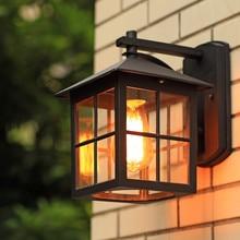 European Outdoor LED Wall Light Retro Aluminum Waterproof Porch Lights Wall Sconce Lighting Garden Balcony Aisle Deco Fixtures