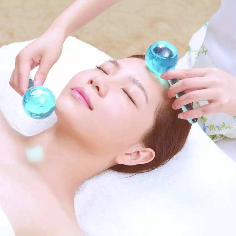 2pcs set Face Massager Beauty Ice Hockey Energy Beauty Crystal Ball Beauty Water Wave Beauty Massageador Facial Massage Ball in Massage Relaxation from Beauty Health