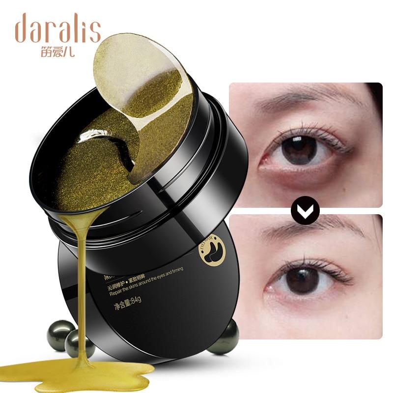 Pérola negra de Ouro Máscara de Olho do Colagénio 60 pcs Ageless Gel Removedor de Manchas Rugas Olhos Sacos Olheiras para Pele do Rosto almofadas cuidados