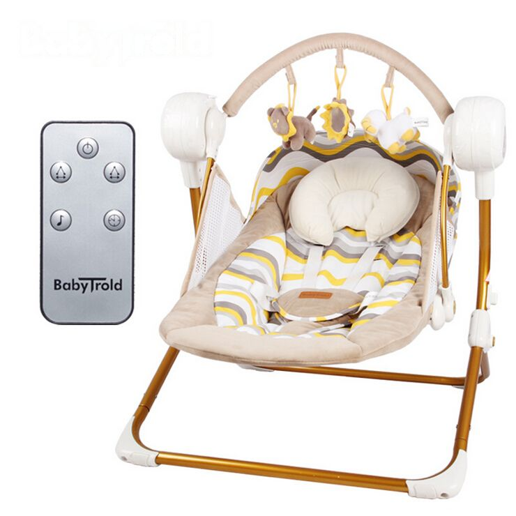 Remarkable Us 138 0 Baby Electric Baby Bed Wireless Remote Control Musical Bouncer Kid Activity Product Vibrating Rocking Chair Seat Cradle Swing In Short Links Chair Design For Home Short Linksinfo