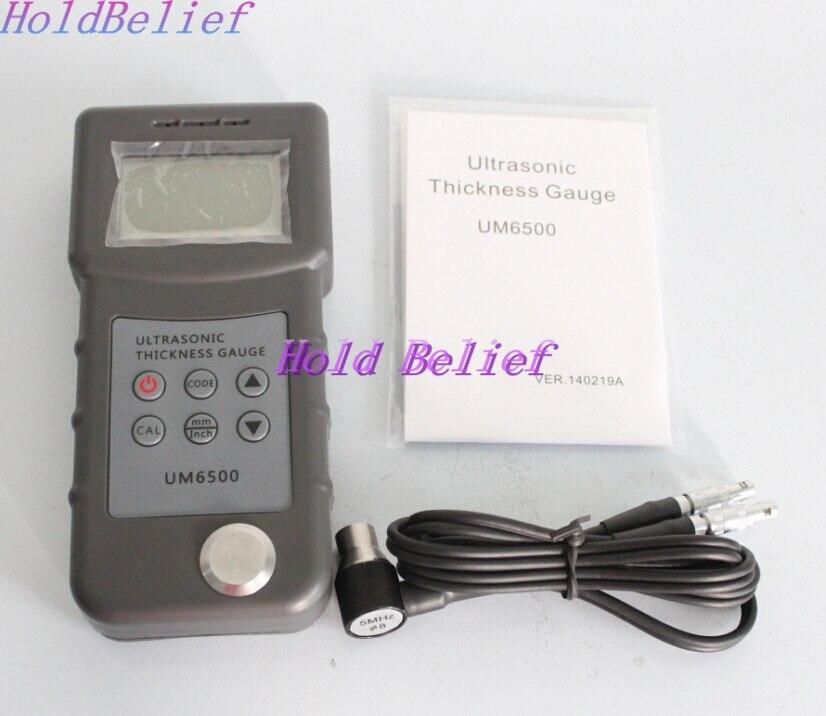 New Digital UM6500 Ultrasonic Thickness Gauge Tester Meter 1.0-245mm/0.05-8inch  цены
