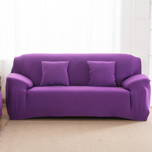 Spandex Stretch Sofa cover Big Elasticity 100% Polyester Couch cover Loveseat SOFA Furniture Cover 1pc pure color Machine Wash