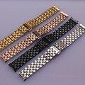 16mm 18mm 20mm 22mm 22mm moda watchband straps pulseira homens senhora relógios accesserios Ouro Prata Rosegold Preto extremidade curva