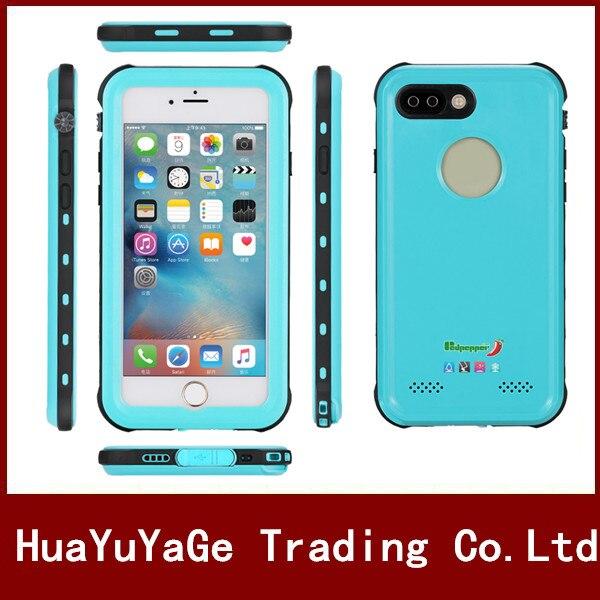 imágenes para Cajas del teléfono Original Redpepper impermeable a prueba de golpes caso ultra delgado con Huella Digital Cubierta de la Bolsa para el iphone 7 7 Más 7 Más