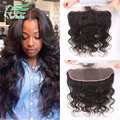 virgin brazilian hair lace frontal closure 13x4 with free shipping unprocessed human hair ear to ear lace closure bleached knots