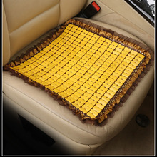 Bamboe Auto Zitkussen Hout Kralen Vierkante Algemene Auto Bekleding Zomer Ventilatie Seat Bamboe Mat