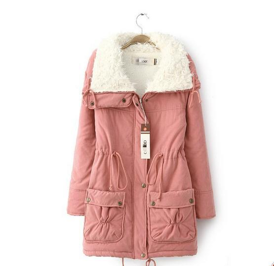 2016 Women basic jacket thick warm  tops large size women's cotton inner alchemy parka coats