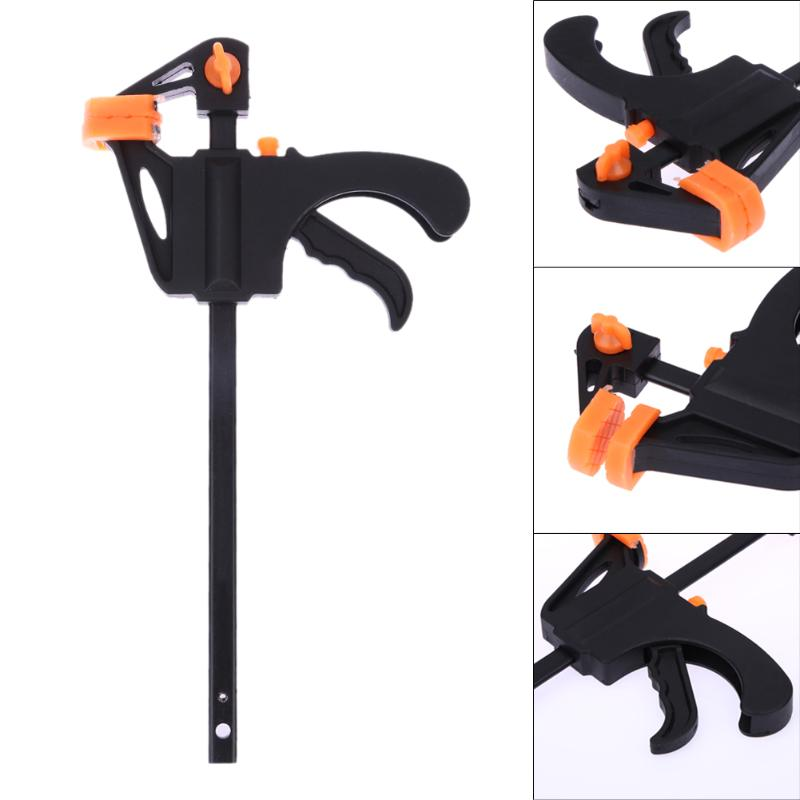 цена на 4 Inch F Woodworking Clip Quick Ratchet Release Speed Squeeze Wood Work Bar F Clamp Kit Gadget Tool DIY Hand Tool
