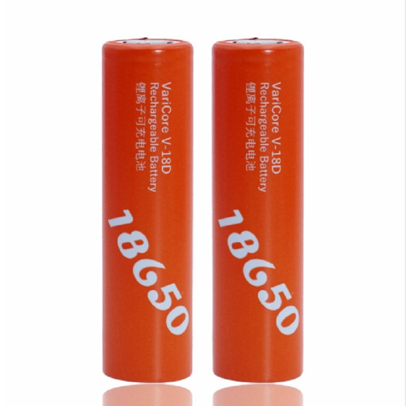 Varicore 18650 2500 much power battery v - 18d orange 3.7 in the level 20A can use electronic cigarettes (or diy tools )