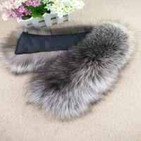 Fashion Warm Clothing Accessory Real Fur Collar Fox Fur Shawl Collar