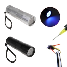купить UV Flashlight Ultraviolet Light 12LED Detection Fishing Curing Glue Multipurpose Fishing Flies Making по цене 110.22 рублей