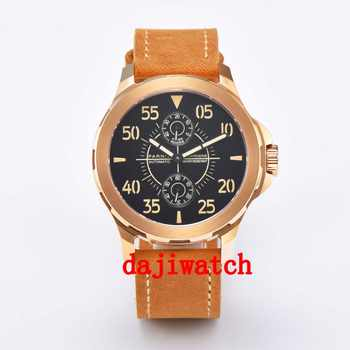 44mm parnis miypota automatic date adjust squaremens watch Men's watch  Orange strap - DISCOUNT ITEM  8% OFF All Category