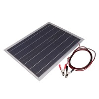 Lightweight Solar Panel Semi Flexible 18V20W Solar System Photovoltaic Solar Panel & Aluminum Battery Clips
