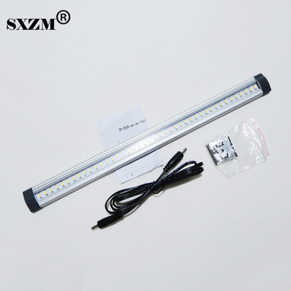 SXZM led kitchen light ulter thin Cabinet lamp 3W 300mm with 42led SMD 3528 DC12V 300lm White or warm white 2 5 3w 300lm 4500k 3 led warm white light ceiling lamp w led driver silver 85 277v